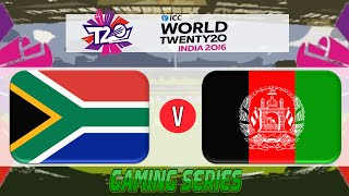 (GAMING SERIES) ICC T20 WORLD CUP 2016 – SOUTH AFRICA v AFGHANISTAN GROUP 1 MATCH 7