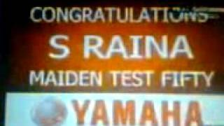 Suresh Rania Debut Maiden Test Fifty.3gp