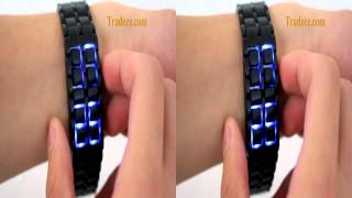 Dark Samurai - Japanese-inspired LED Watch (Burning Blue LED)
