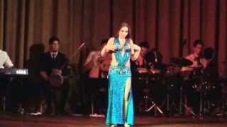 Maryem Bent Anis in Buenos Aires 2013, belly dance