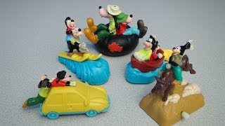 AN EXTREMELY GOOFY MOVIE DISNEY BURGER KING KID'S CLUB TOY COLLECTION VIDEO REVIEW