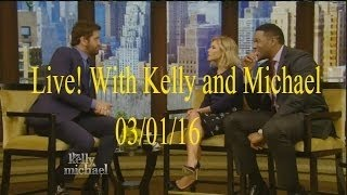 Live! With Kelly and Michael 03/01/16 Gerard Butler (