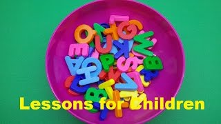 ABC Party! Learning the Alphabet Lessons for Children by Play Dough and Surprise Toys