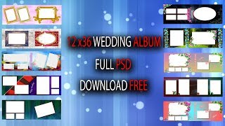 12x36 wedding album psd download free i khan 2018