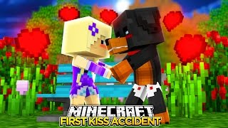 Minecraft - FIRST KISS ACCIDENT w/BABY ANGEL - Little Baby Max Roleplay