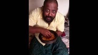 Al Mallu Pam Eating food with expression Kabali Neruppuda #Batchelor Room Comedy