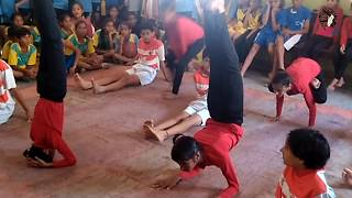 under 14 years  girls yoga competition   Teen girl yoga asana competition