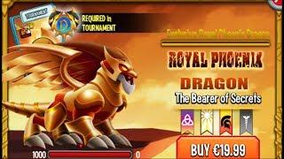 Dragon City - Royal Phoenix Dragon [Exclusive VIP Dragon   Only $20 Bucks]