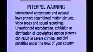 FBI/Interpol Wanring Screens 1992-1995