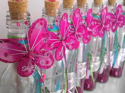 Invitación en botella para quinceañera Ilusión