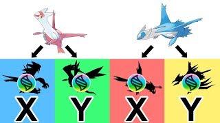 Mega Latias X, Y ; Mega Latios X,Y - Future Pokemon Mega Evolutions 2018.