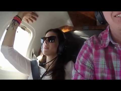 One Minute On An Airplane With My Wife