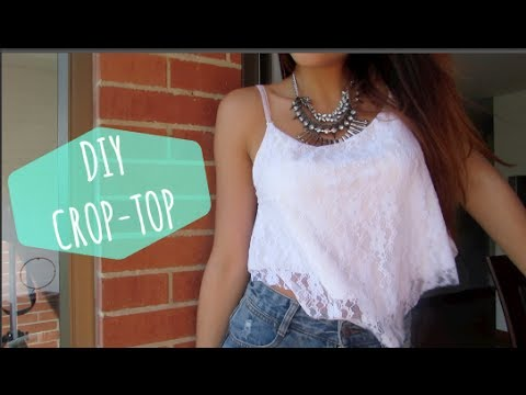DIY Crop Top para Verano Sin maquina de coser