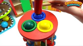 Learn Colors Best Learning Videos for Kids: Cute Kid Genevieve Plays Ball Pounding! Colorful Fun!