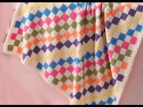 Baby Blanket Entrelac Veronika Hug