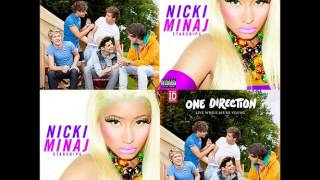 One Direction Vs Nicki Minaj - Starships Live While We're Young(Adast Mashup)