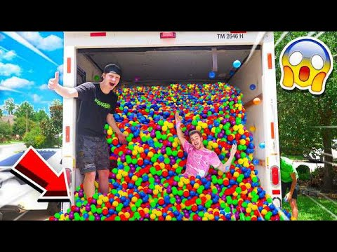 PUTTING 50 000 BALL PIT BALLS IN A MOVING TRUCK