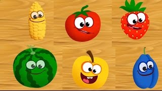 Baby Learn Names of Fruits, Learn Colors, Cut The Fruits & Food Puzzles