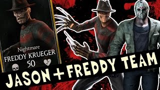 Jason Voorhees and Freddy Krueger team in MKX Mobile. THE BLOOD WILL FLOW!