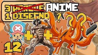 3 ANIME = 1 DISEGNO - Attack On Titan, One Piece e Naruto