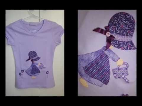 Camisetas em Patchcolagem artesanato .
