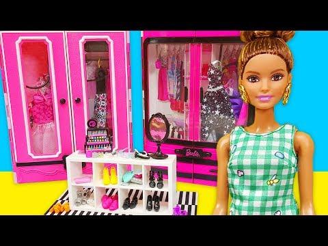 Barbie ve Oyuncak Bebekler için Kıyafet Dolabı | Barbie Oyunları | EvcilikTV