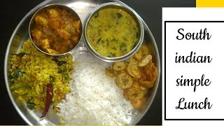 Veg Lunch Menu Recipes|Lunch menu Recipes |30 minutes lunch Menu|simple South Indian Thali