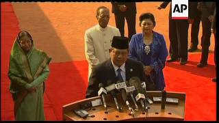 Indonesia president SBY visits, meets Patil