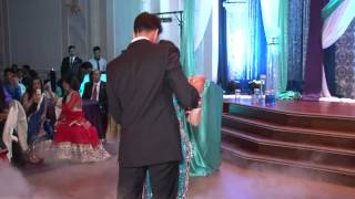 First Dance on the Reception Floor by Gorgeous Bhavna and the Greek God Harinder!!!