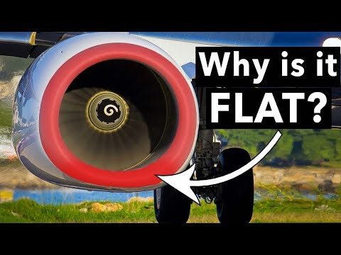 Why are the Boeing 737NG engines FLAT