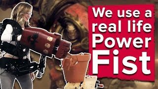 We punch stuff with a real life Dawn of War 3 power fist