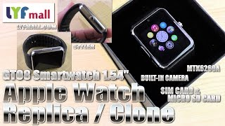 Apple Watch alternative? (Hands-on/Unboxing) GT08 Smartwatch, Cam, SIM & MicroSD