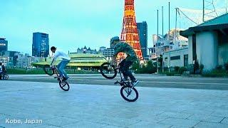 GO Xreme ACTION CAMS - BMX Flatland Combo synchron in Japan