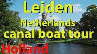 Leiden, Netherlands Canal Boat Tour
