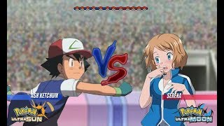 Pokemon Battle USUM: Kanto Ash Vs Serena (Pokémon Kanto Vs Kalos)