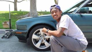 HOW TO CHANGE BMW E34 ROTORS (Drilled & Slotted)