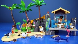 Playmobil Family Fun Island Juice Bar with Sea Animals Playset - Toys For Kids