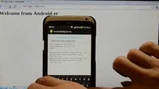 Implement simple HTTP server running on Android