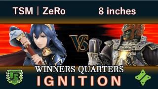 Ignition #79 WINNERS QUARTERS - TSM | ZeRo (Lucina, Ganondorf) vs 8 inches (Ganondorf)