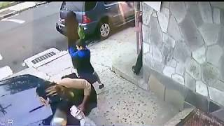 Woman jumps in front of car to save boy