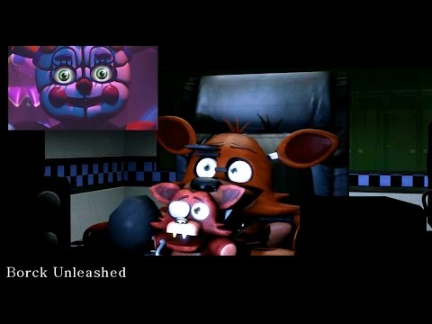 SFM| Foxy reacts to Sister Location Trailer| HD
