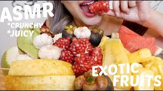 ASMR Exotic Fruit Platter | Crunchy, Juicy Relaxing Eating Sounds | N.E Let