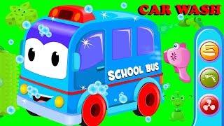 School Bus | Car Wash Videos | Cartoon Videos For Children