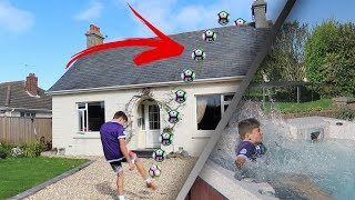 INSANE OVER THE HOUSE FOOTBALL FORFEITS CHALLENGE!!
