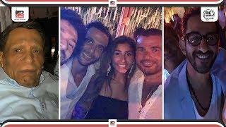عمرو دياب ودينا الشربيني وأحمد حلمي ونجوم الفن يشعلون حفل زفاف محمد امام