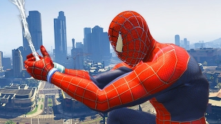 Spiderman and Supper man vs Police car, helicopter police - GTA V Supperman and Supper man