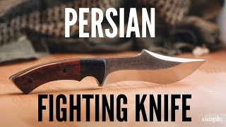 Knife Making - How to Make A Persian Fighter (Curved Blade)