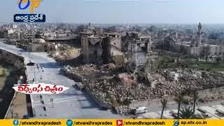 Building damaged in bomb blast at Syria