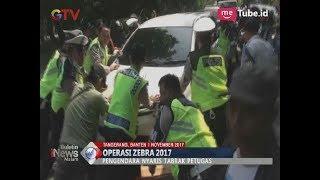 Seorang Pengendara Mobil Nekat Kabur Saat Polisi Menggelar Operasi Zebra di Tanggerang - BIM 01/11