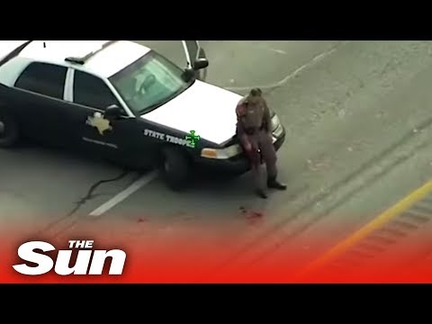 Xxx Mp4 Police Officer SHOT During Gunfight With Suspect 3gp Sex